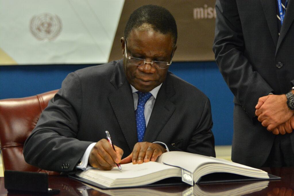 Basil Ekouebe in 2013